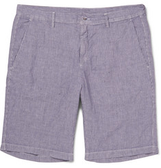 Massimo Alba Striped Linen Shorts