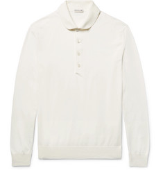 Caruso - Knitted Cotton Polo Shirt