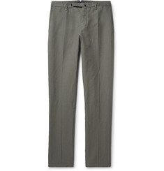 Incotex - Slim-Fit Linen and Cotton-Blend Chinos