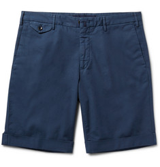 Incotex - Slim-Fit Stretch-Cotton Shorts