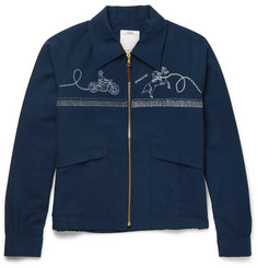 visvim Slim-Fit Printed Cotton-Blend Western Jacket