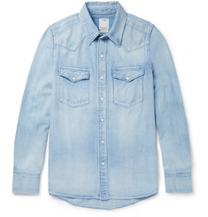visvim Social Sculpture Washed-Denim Shirt