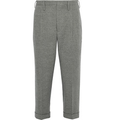 visvim Wide-Leg Cropped Wool and Linen-Blend Trousers