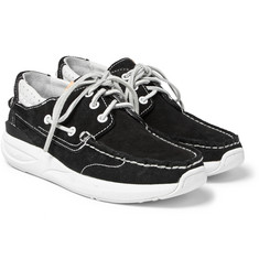 visvim - Hockney Leather-Trimmed Suede Boat Shoes