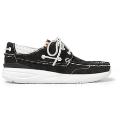 visvim Hockney Leather-Trimmed Suede Boat Shoes