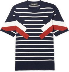 Neil Barrett Slim-Fit Striped Knitted T-Shirt