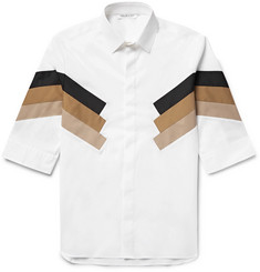 Neil Barrett Panelled Cotton-Blend Poplin Shirt