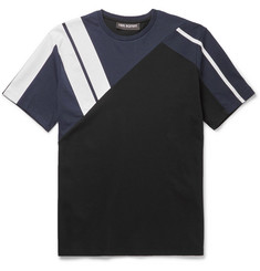 Neil Barrett Panelled Bonded Cotton-Jersey T-Shirt