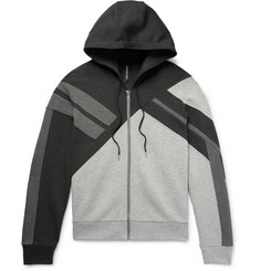 Neil Barrett Panelled Bonded Jersey Zip-Up Hoodie