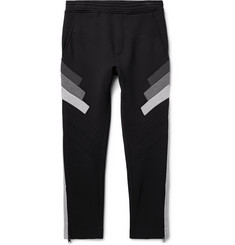 Neil Barrett Slim-Fit Tapered Cropped Bonded Jersey Sweatpants