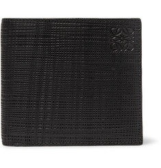 Loewe Embossed Cross-Grain Leather Billfold Wallet