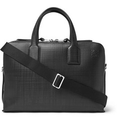 Loewe Goya Embossed Leather Briefcase