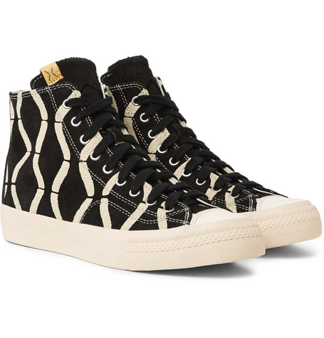 Skagway Printed Suede High-top Sneakers - Black