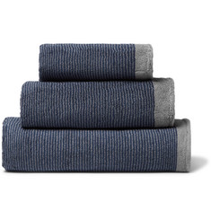 Cleverly Laundry - Set of Three Striped Superfine Cotton-Terry Towels