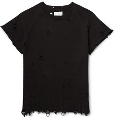 TAKAHIROMIYASHITA TheSoloist. Distressed Cotton Sweater