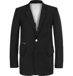 TAKAHIROMIYASHITA TheSoloist. Black Frayed Cotton Blazer