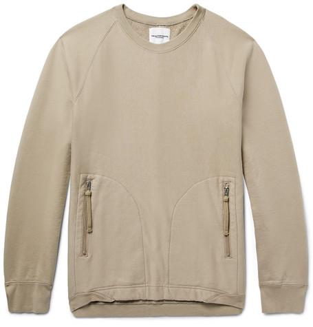 Takahiromiyashita The Soloist Loopback Cotton-jersey Sweatshirt - Mushroom JjHFCxO