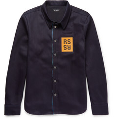 Raf Simons Appliquéd Denim Shirt