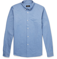 A.P.C. - Slim-Fit Button-Down Collar Cotton Oxford Shirt