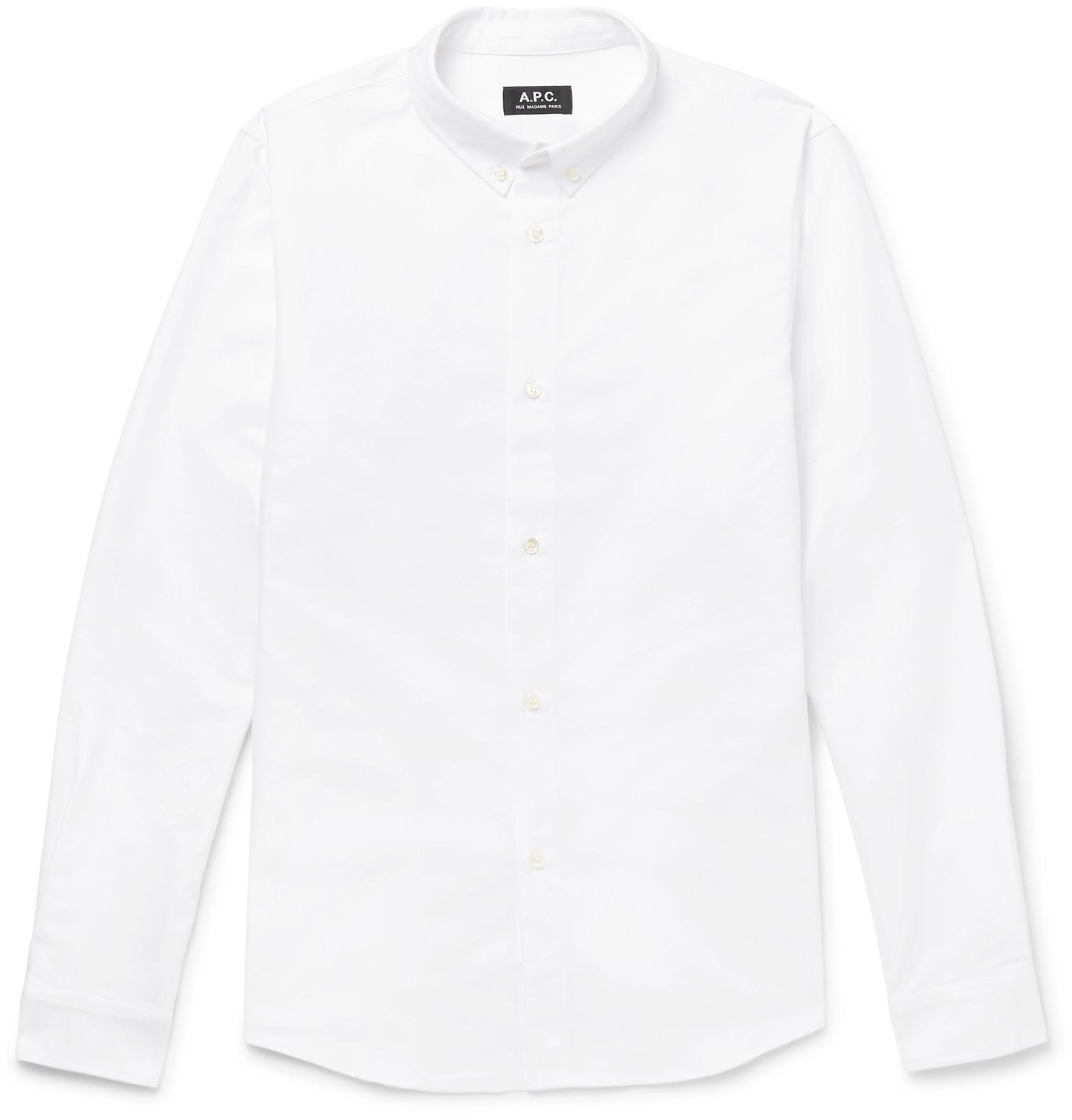 Apc Slim Fit Button Down Collar Cotton Oxford Shirt