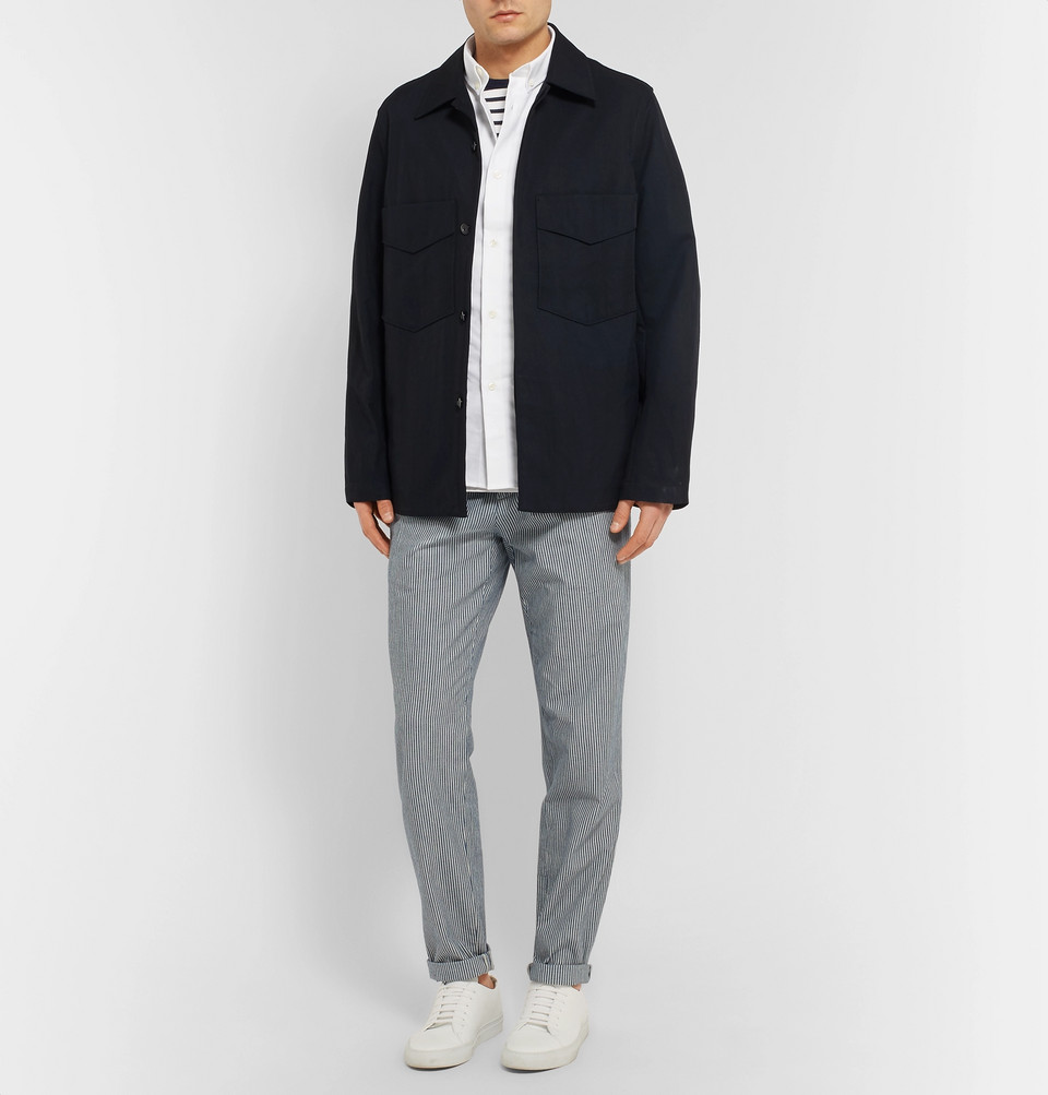 A.P.C. Slim-Fit Button-Down Collar Cotton Oxford Shirt