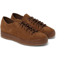 Feit Leather-Trimmed Suede Sneakers