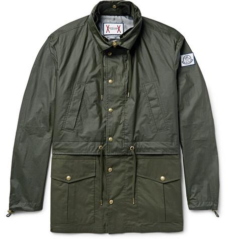 Moncler Gamme Bleu – Waxed-cotton Hooded Parka – Dark green