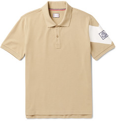 Moncler Gamme Bleu - Slim-Fit Printed Cotton-Piqué Polo Shirt