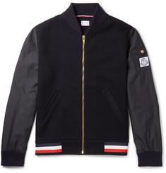 Moncler Gamme Bleu - Cotton-Blend Piqué and Shell Bomber Jacket