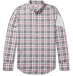 Moncler Gamme Bleu Slim-Fit Button-Down Collar Checked Cotton Shirt