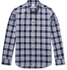 Moncler Gamme Bleu - Slim-Fit Button-Down Collar Checked Cotton Oxford Shirt