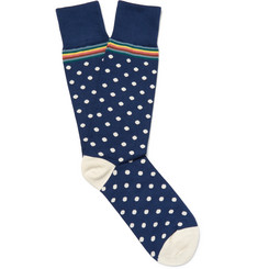 Paul Smith Polka-Dot Cotton-Blend Socks