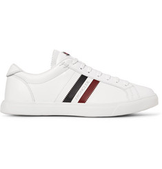 Moncler Monaco Striped Leather Sneakers