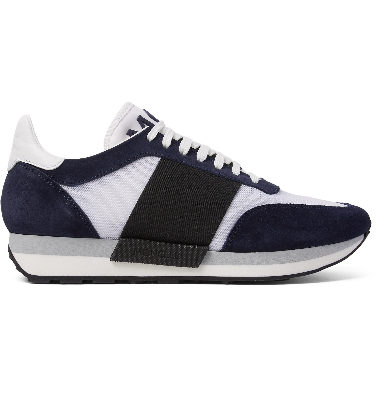a70c4e970 Moncler - Horace Suede and Mesh Sneakers