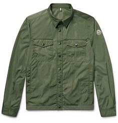 Moncler Triomphe Cotton-Trimmed Nylon Shirt Jacket