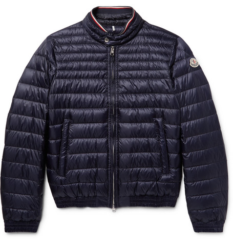 Moncler Garin Quilted Shell Down Jacket In Navy
