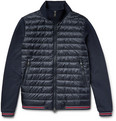 Moncler - Loopback Cotton-Jersey and Quilted Shell Down Bomber Jacket