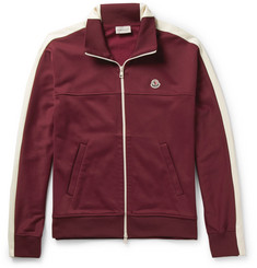 Moncler Jersey Zip-Up Sweatshirt