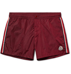 Moncler Short-Length Stripe-Trimmed Swim Shorts