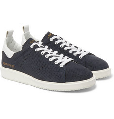 Golden Goose Deluxe Brand - Starter Leather-Trimmed Perforated Suede Sneakers