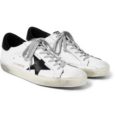 Golden Goose Deluxe Brand - Superstar Distressed Leather and Suede Sneakers