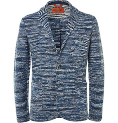 Missoni - Blue Space-Dyed Knitted Cotton Blazer