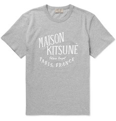 Maison Kitsuné Slim-Fit Printed Cotton-Jersey T-Shirt