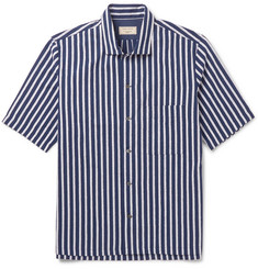 Maison Kitsuné Striped Cotton-Jacquard Shirt