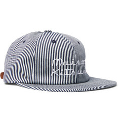 Maison Kitsuné - Embroidered Striped Cotton-Twill Baseball Cap