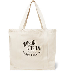 Maison Kitsuné Palais Royal Printed Canvas Tote Bag