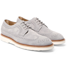 Tod's - Suede Longwing Brogues