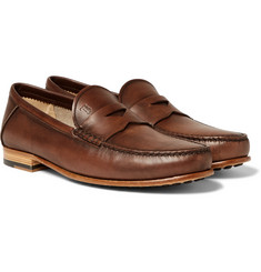 Tod's - Burnished-Leather Penny Loafers