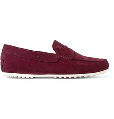 Tod's City Gommino Suede Penny Loafers
