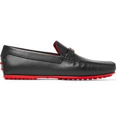 Tod's + Ferrari Gommino Leather Loafers